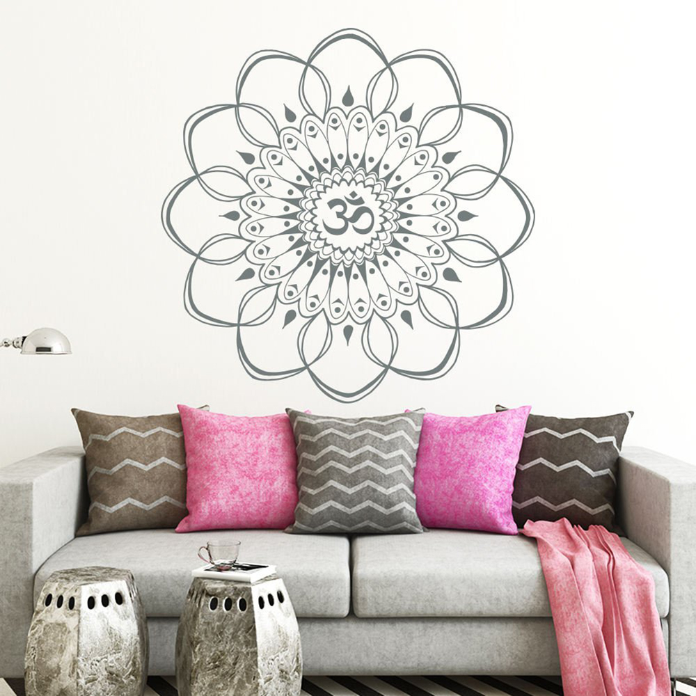 Living Room Yoga Studio Coogee: Namaste Vinyl Sticker Stickers Mandala Yoga Decal Mural