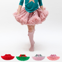 21 цвета детские девушки юбки Пушистый Шифон Pettiskirts Девочки Принцесса dance party Тюль туту юбки оптом 12 М-8 Т