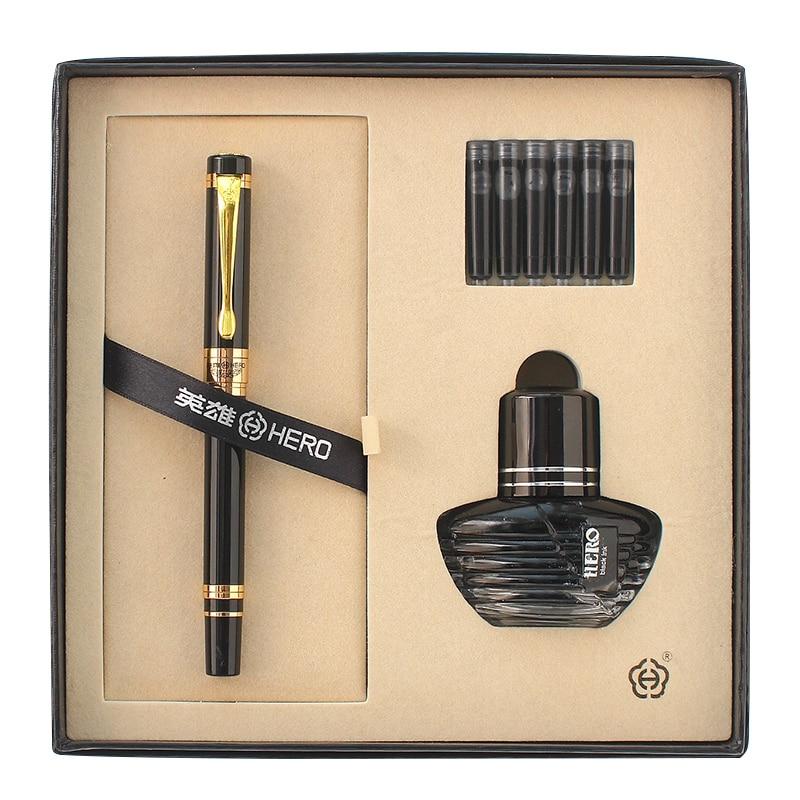 0.5mm Nib Hero Brand 975 Iridium Fountain Pen Office&School Supplies Classic Series Ink Pens Free Shipping fountain pen curved nib or straight nib to choose hero 6055 office and school calligraphy art pens free shipping