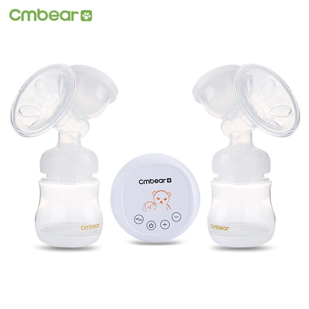 Cmbear Massage Advanced USB Electric Double Breast Pump Milk Bottle Convenient USB PP Powerful Breast Pumps Baby Breasts Feeding