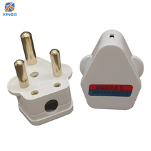 South Africa 3 Round Pin Electrical Plug 5A 15A 250V AC Power Adapter Pure Copper Power Plug