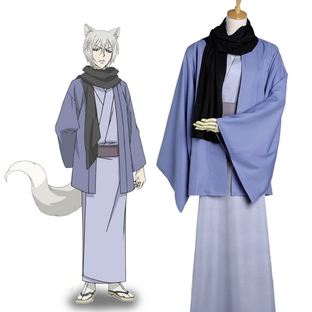 Anime Cosplay Kamisama Kiss Fox Yokai Tomoe Demon Fox Cosplay Costume  Japanese Kimono Cosplay Halloween Costume