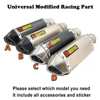 Akrapovic 35 51MM Universal Motorcycle GP Exhaust Modified Muffle Pipe For Most Motorcycles DIRT BIKE SCOOTER