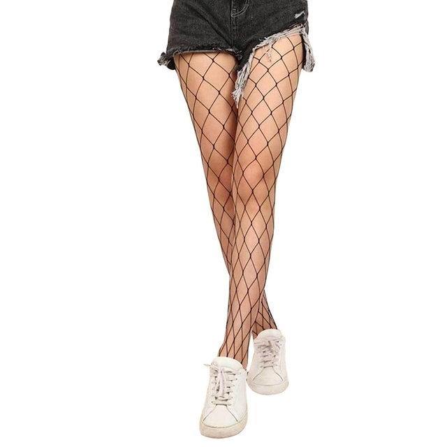 Hollow Out Sexy Pantyhose Black Women Fishnet Stockings
