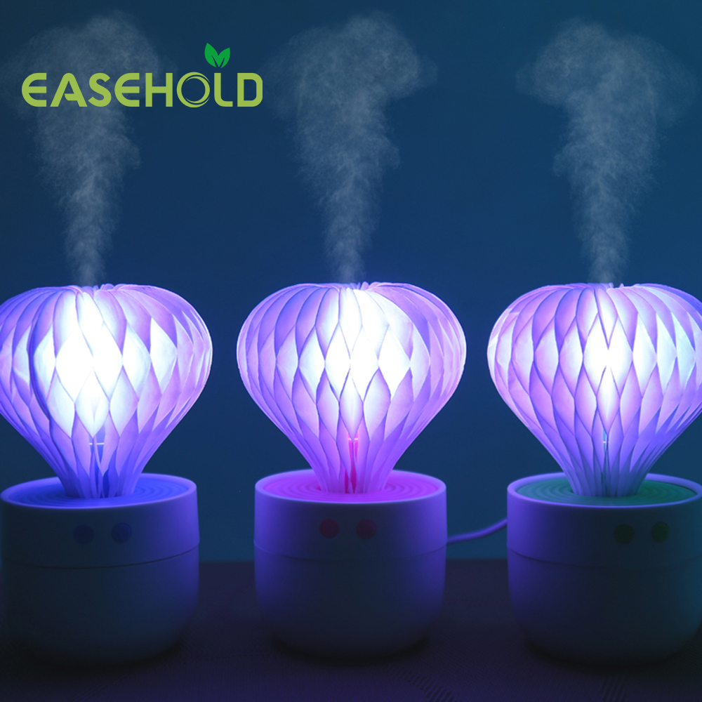 EASEHOLD USB Air Humidifier Night Light Ultrasonic Humidifiers Mist Maker Mini Household Air Purifier 150ml Christmas Gift 5pcs lot 8 130mm replacement cotton swab for air ultrasonic humidifiers mist maker humidifier part replace filters can be cut