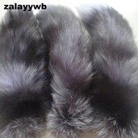 Zalzyywb mode vos staart sleutelhanger ongeveer 40 cm leuke sleutelhanger echt bont Tas hanger tag charm sleutelhanger grijs vos staart auto