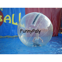 2M Clear Human Water Ball,Inflatable Water Walking Ball,CE Certificate Germany Zipper Zorb Ball, air Walker Zorbing ball