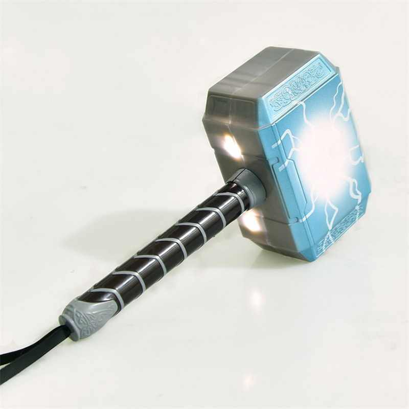2018 Baru Fashion Avengers Alliance LED Glowing & Terdengar Thor 'S Hammer LED Masker Thor Action Figure Cosplay Anak-anak Brinquedos hadiah
