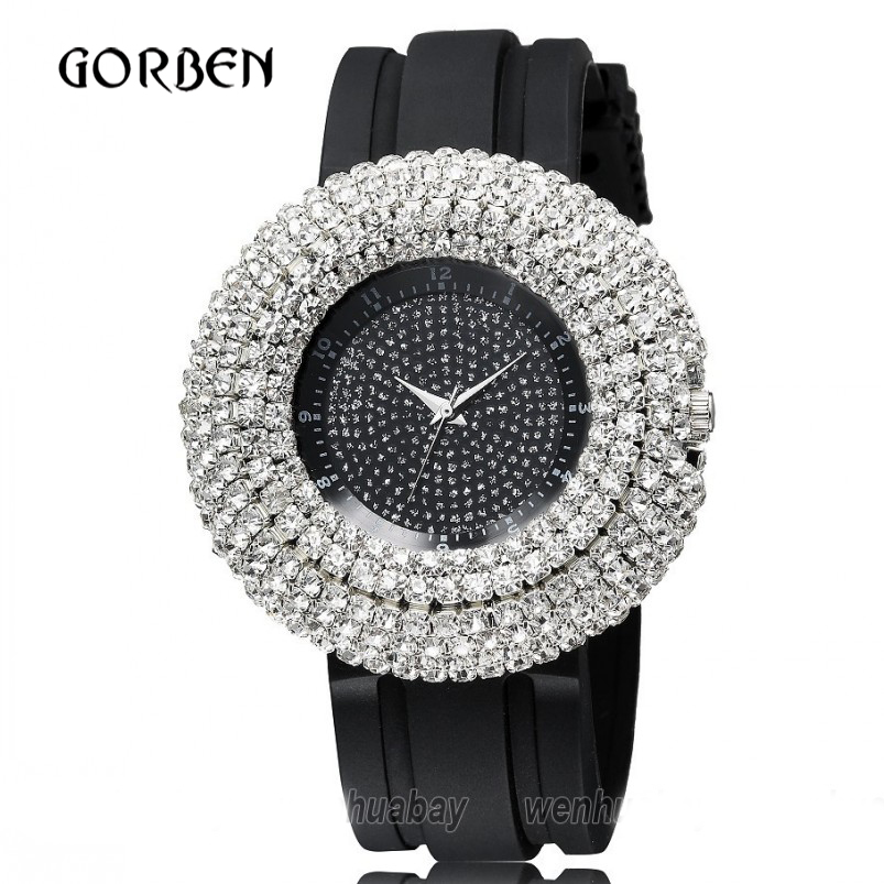 Fashion Blingbling Crystal Women watches Brand Women Silicone Quartz Analog Sports Watch Ladies Hour Dress Relogio Feminino high quality hot sales geneva brand silicone watch women ladies crystal dress quartz wristwatches relogio feminino gv001