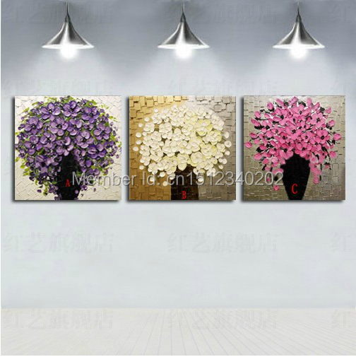 High Quality modern painting 3pcs thick texture Hand painted Palette font b knife b font flower