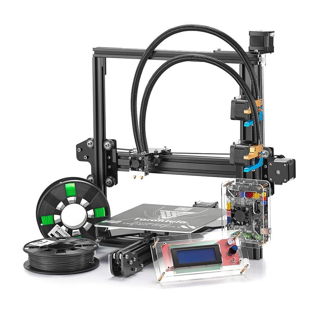 Tevo 3D imprimante chaude tarentule aluminium kit de bricolage avec 8 GB carte SD kit impression 3d 2 rouleau Filament carte SD Titan extrudeuse comme cadeau