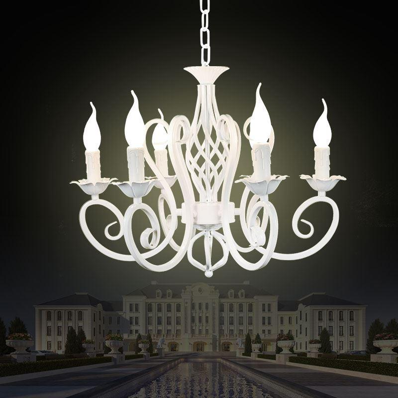 Christmas European Fashion Vintage Chandelier Ceiling Lamp