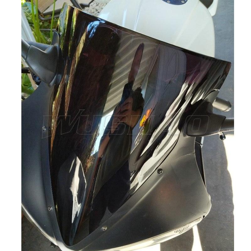 Plastic Windshield Screen Visor Black Yamaha YZF R6 2003-2005 YZF R6S 2006-2009