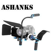 Dslr rig комплект фильм комплект съемок система ручной плечевой камкордер следуйте фокус матовая коробка для canon nikon камеры видеокамера