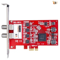ISDB T Quad Tuner PCIe Card TBS6814 Perfect for Brazil SBTVD and Japan ISDB T TV Programs