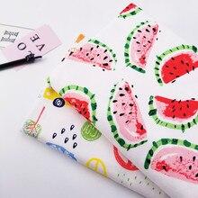 цена 100% Combed Baby cotton Fabric Printed cotton jersey Cloth by half meter DIY sewing baby clothing cloth 50*170cm в интернет-магазинах