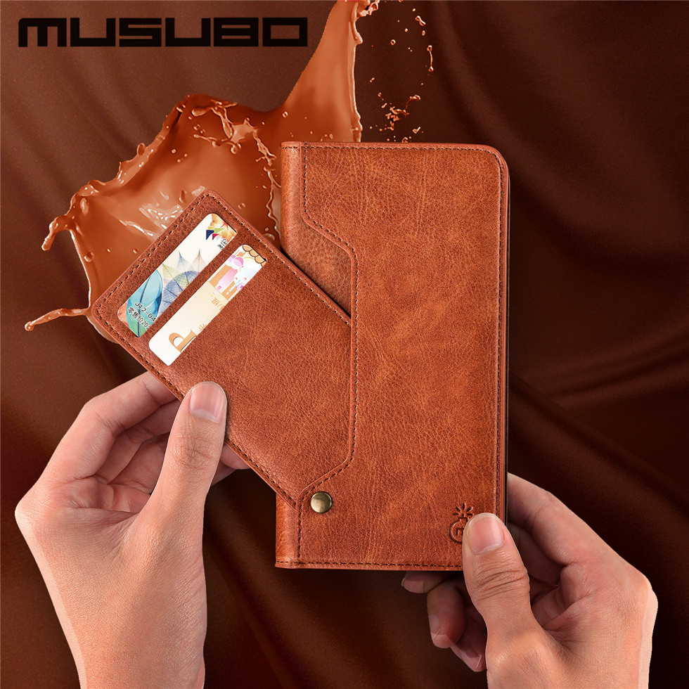 Musubo Case for Samsung Galaxy S8 Plus Note 8 Leather Case For iphone 7 6s 6 Plus Stand Cover Wallet Phone Bag flip magnet cases
