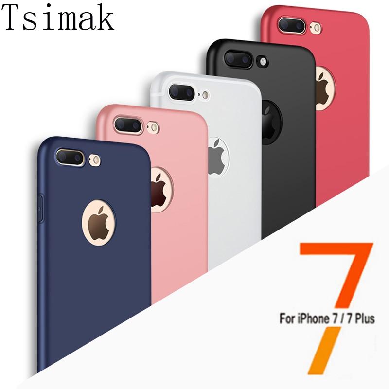 Πολυτελής θήκη από πίσω μαλακό σιλικόνης TPU για iPhone 5 5s SE 6 6s 7 Plus Θήκη τηλεφώνου με παράθυρο λογότυπου