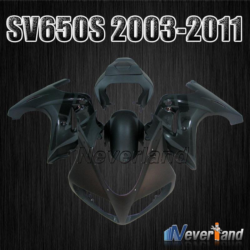 For Suzuki SV650S SV 650S 2003-2013 04 05 06 07 08 09 10 11 12 Motorcycle Bodywork Fairing Kit Glossy&Matt Black kappenset D05
