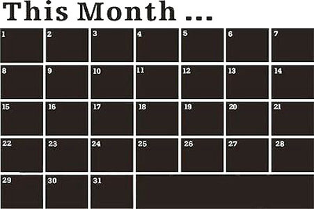 individuality creative wall sticker monthly plan calendar memo