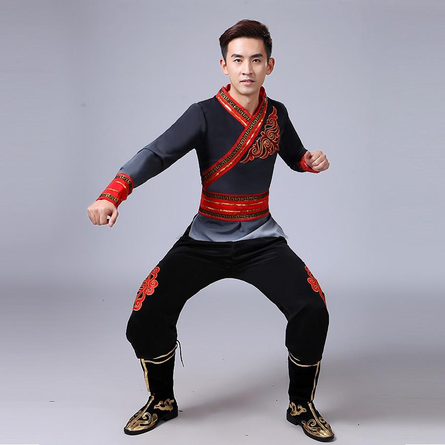 new design male yangko costume suit chinese folk dance 3 color modern dance stage performance. Black Bedroom Furniture Sets. Home Design Ideas