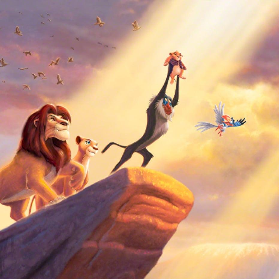 картинка короля льва на скале дома итальянском