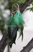 Free Shipping Bohemian Rock Punk Collocation Long Color Feather Tassels Alloy Ear Cuff Wrap Clip