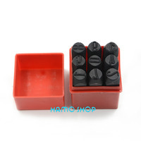 9pcs Lot Number Die Steel Stamp Punch 12 5mm ALPHABET Jewelers Set Choice DIY Tools