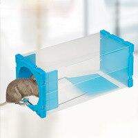 Behogar humano reusável rato rato plástico transparente ratinhos ratinhos coletor não matar roedor repelente para casa captura ao vivo liberação roedores