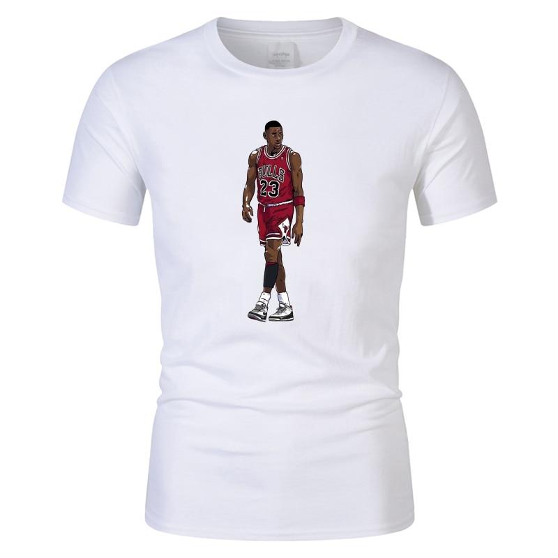 f0b7ee1d0ab 100% cotton Michael Jordan Shoot High Quality Casual Unisex T shirt men  basketball hip hop T Shirt women Short Sleeve CT06066-in T-Shirts from  Men's ...