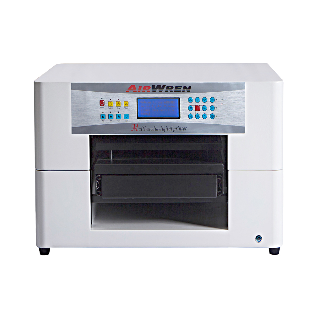 Hot Selling A3 Size T-shirt Printing Machine With 6 Color For Fabric Custonized Image