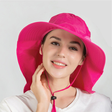Connectyle Mens Women Outdoor Large Brim Fishing Hat with Neck Cover UPF 50+ Mesh Sun Visor Hats For