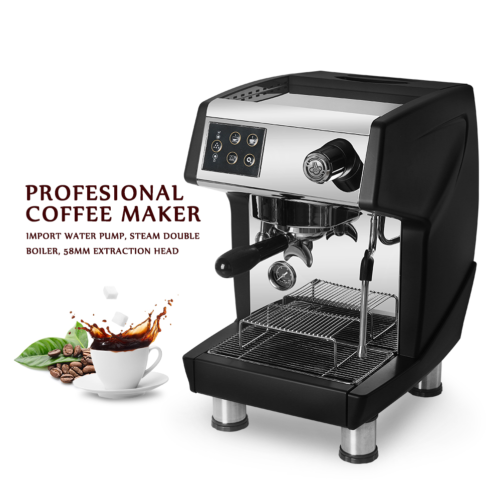 ITOP 15 Bar Professional Red/Black Coffee Maker Machine Commercial Milk Foam Cappuccino Latte Espresso 220V