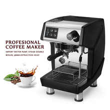ITOP 15 Bar Professional Red/Black Coffee Maker Machine Commercial Milk Foam Cappuccino Latte Espresso 220V