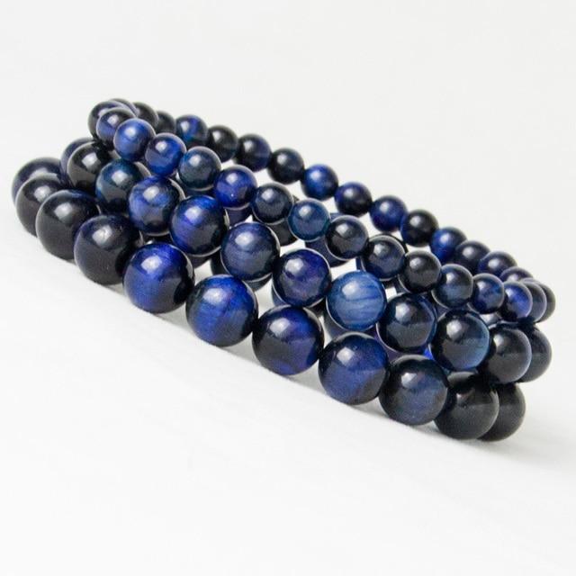 Bracelets perle Oeil de Tigre Bleu