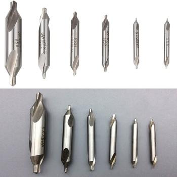 цена на 6pcs HSS High Speed Steel Center Drill Bits Set Metric Combined Countersink Kit 60 Degree Angle 1.0mm 1.5mm 2mm 2.5mm 3mm 5mm