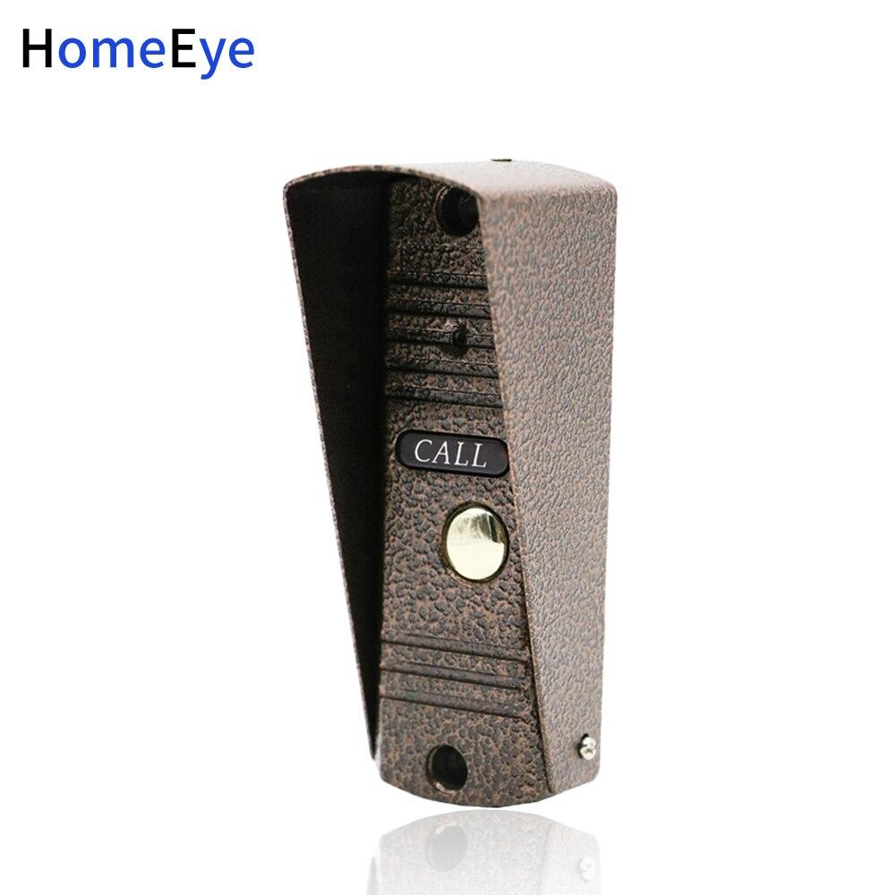 Homeeye telefone da porta intercom botão de chamada ao ar livre painel de chamada 1200tvl build-in câmera apartamento segurança campainha ir visão noturna