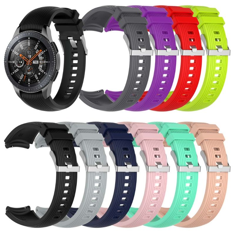 22mm Silicone Watch Band Wrist Strap For Samsung Galaxy Watch 46mm Gear S3 Frontier/Classic Gear 2 R380