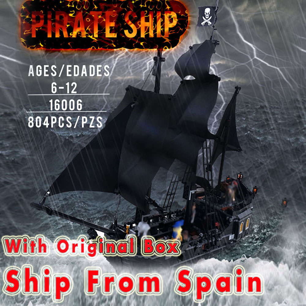 lepin 16006 804pcs building bricks Pirates of the Caribbean the Black Pearl Ship model Toys Compatible 4184 цена 2017