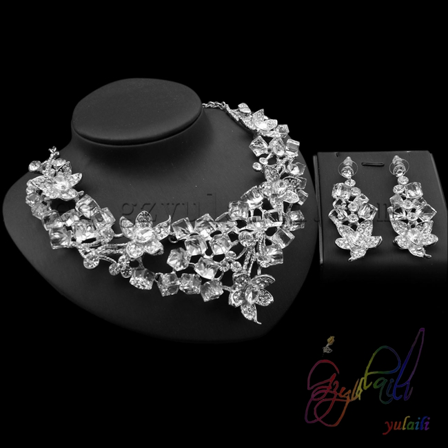 bridal fashion accessories jewelry kundan set natural crystal stones jewelry sets for beauty