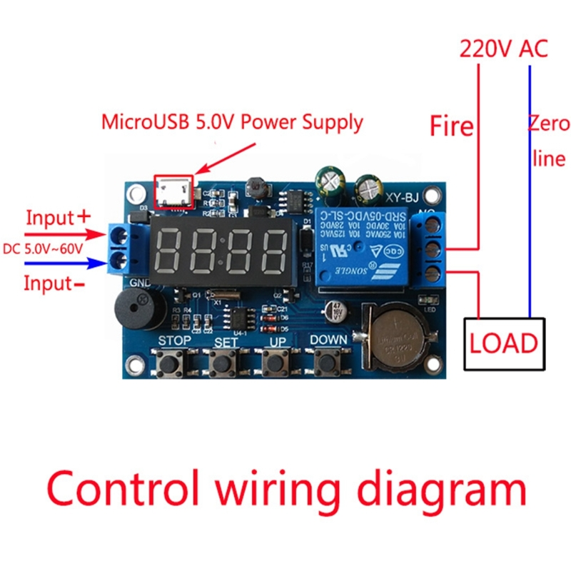 2019 hot Real-time Relay Module Timing Switch Control Synchronization Delay Timer New