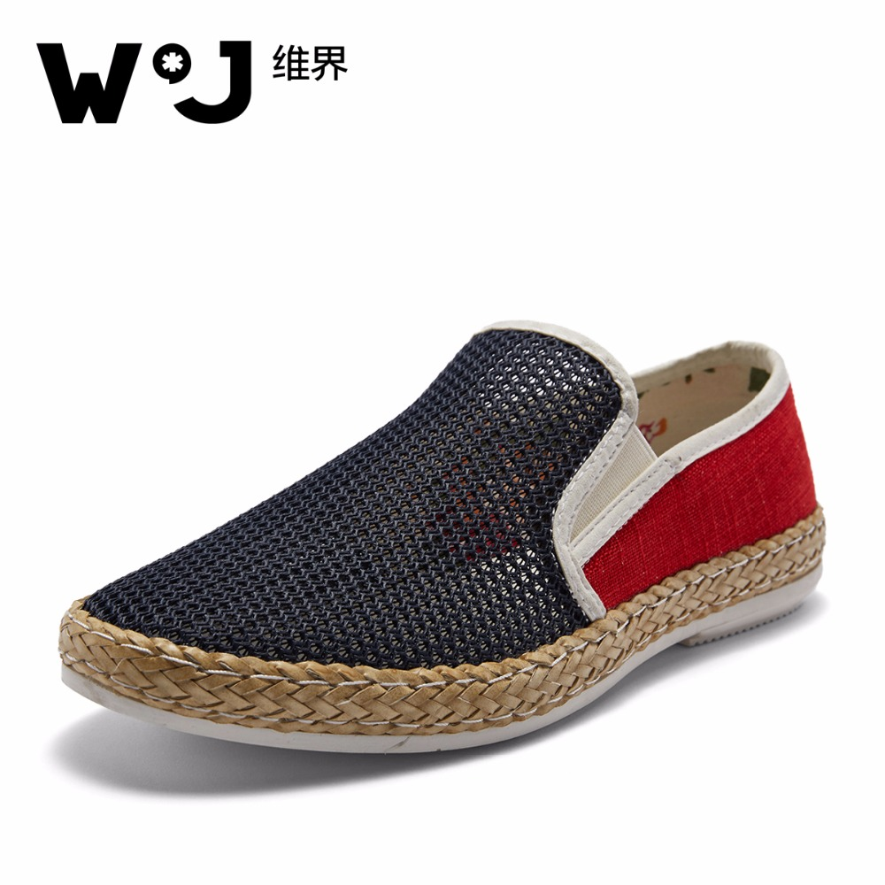 W.J 2017 Summer Hot Sale Mesh Breathable Mens Casual Shoes Boat Shoes Men Krasovki Comfortable Soft Male Shoes Chaussure Homme