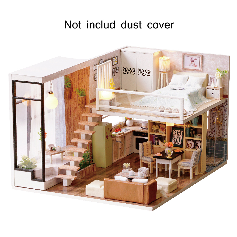 New Furniture DIY Doll House Wooden Miniature Doll