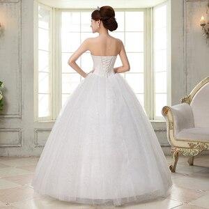 Image 2 - Costomize real foto vestido de casamento 2016 estilo coreano vestido de noiva vestido de noiva de lantejoulas de comprimento do chão vestido de noiva