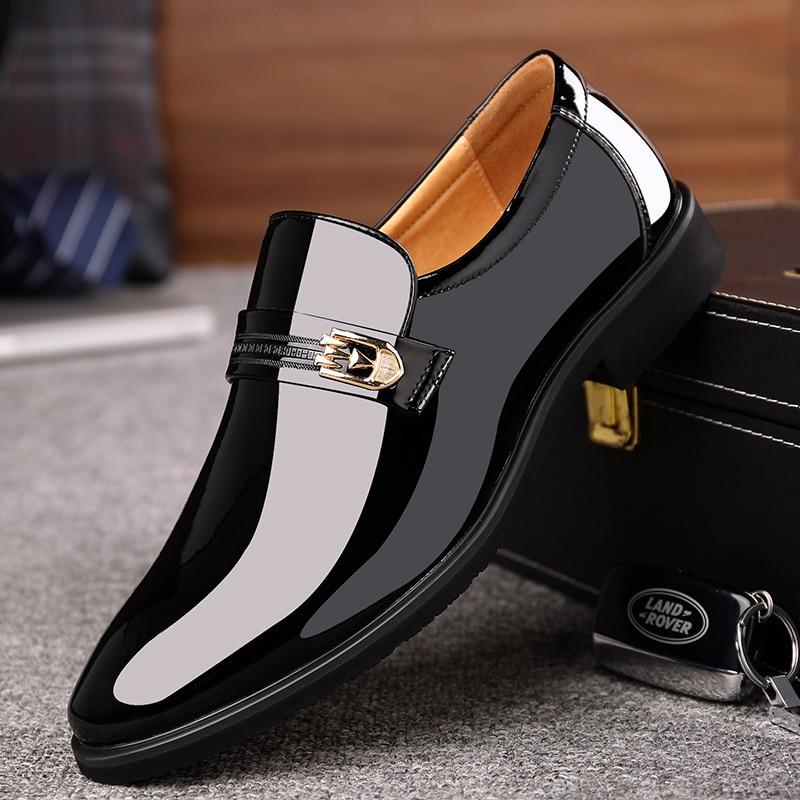 Ms8116162 black Se Black Homens Sapatos Marca Social Office Couro Tie Escritório Primavera Vestem Moda De vdgxwqOd