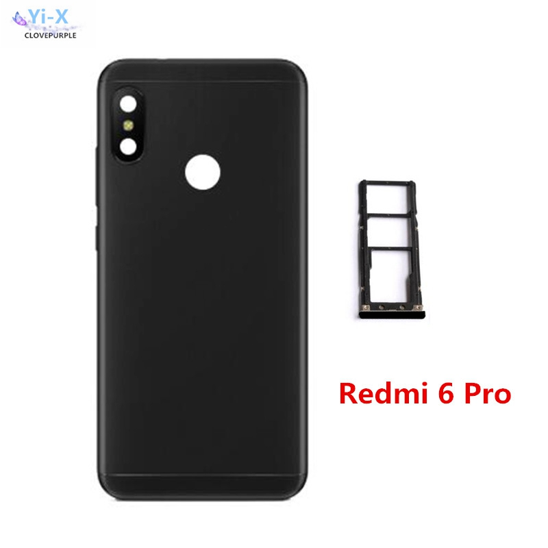 Back <font><b>Battery</b></font> <font><b>Cover</b></font> for <font><b>Xiaomi</b></font> Redmi 6 Pro / <font><b>Mi</b></font> <font><b>A2</b></font> Lite <font><b>Battery</b></font> Back <font><b>Cover</b></font> Rear Housing With Sim card holder Tray image