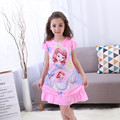 Girl Home Clothes Kids 3-11Y New 2017 Summer Style Girl Nightgowns Dress Children Cloth Girls Sleepwear Kids Girls Princess