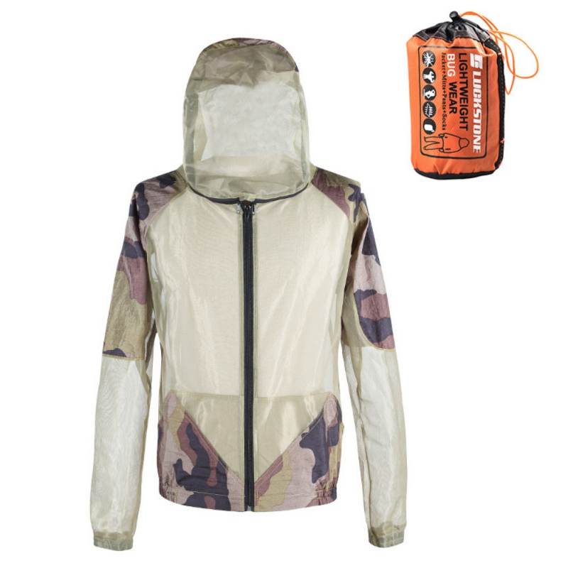 Fishing Clothes Mosquito Repellent Suit Anti Mosquito Clothes With Hat Beekeeping Cloth Anti Fly Jacket Hunting Mosquito Jacket
