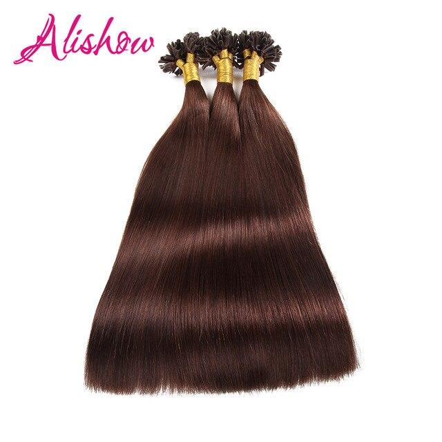 Alishow keratin human fusion hair u tip remy hair extension 16inch alishow keratin human fusion hair u tip remy hair extension 16inch 1gs 100g dark pmusecretfo Images