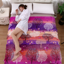 JaneYU Coral Suede Bed Sheet Blanket Thickening Winter Nap Covering Fabric With Flannel